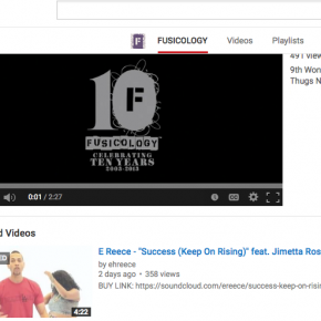 Featured on Fusicology's YouTube Page