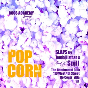 The Popcorn Party Tomorrow Tues. 9.22