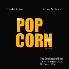 The Popcorn Party Tomorrow Tues. 11.03