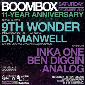 Boombox 11 Year Anniversary Party Dec. 2nd