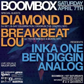 Hosting Boombox w/ Diamond D & Breakbeat Lou 4.7