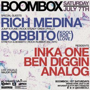 Boombox w/ Bobbito & Rich Medina 7.7