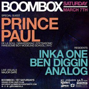 Hosting Boombox w/ Prince Paul 3.7