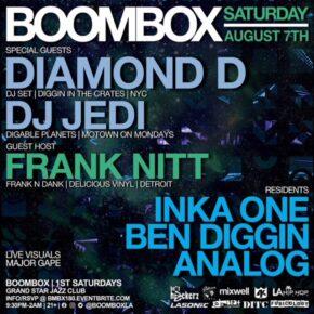 Boombox w/ Diamond D, DJ Jedi & guest host Frank Nitt 8.7