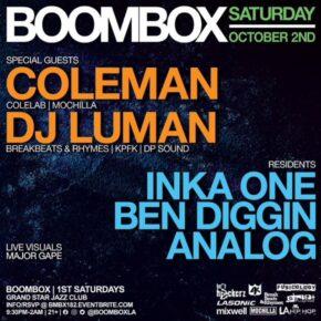 Boombox w/ Coleman & DJ Luman 10.2